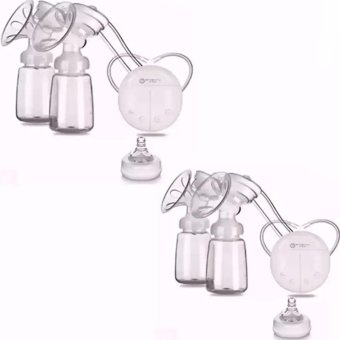 RH228 Mother Manual Double Electric Breast Pump (White) Set of 2