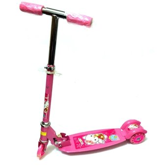 Ride-On Push Scooter for Kids with Laser Wheel (Pink)