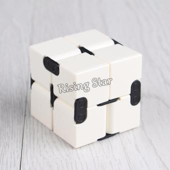 Rising Star High Quality Magic Infinity Cube For Anti Anxiety Stress (White)