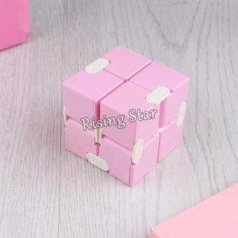 Rising Star High Quality Magic Infinity Cube For Anti AnxietyStress (Pink)