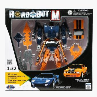 Road Bot M Ford GT & Mustang FR500C Transforming Robot