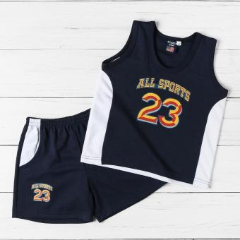 Rookie Baby Boys All Star 23 Muscle Tee and Shorts Set (Navy Blue)