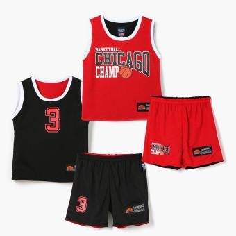 Rookie Boys Basketball Chicago Champ Jersey Shorts Set (Red)