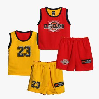 Rookie Boys Cleveland Reversible Jersey Shorts Set (Red)