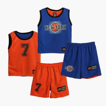 Rookie Boys New York Reversible Jersey Shorts Set (Blue)