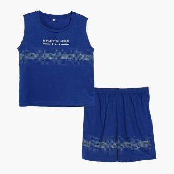 Rookie Boys Sports USA Muscle Tee and Shorts Set (Blue) Price Philippines