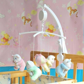 Rotary Crib Clockwork Movement Music Box Baby Kids Bedding Toy -intl