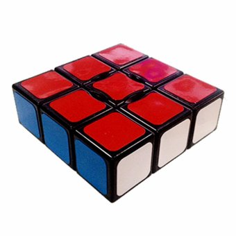 Rubik's Cube Yongjun Floppy Brain Teasers Speed Magic Cube 1x3x3Puzzles YJ8333 Black Body