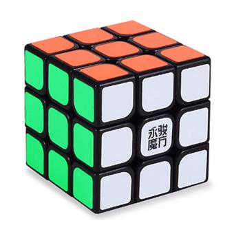 Rubik's Cube Brain Teasers Speed Yongjun Yulong Magic Cube 3x3x3Puzzles Black Body YJ8304
