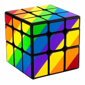 Rubik's Cube Yongjun Unequal Inequilateral Rainbow Magic Cube 3x3Cube Speed Cube Puzzle YJ8313 (Black Body)