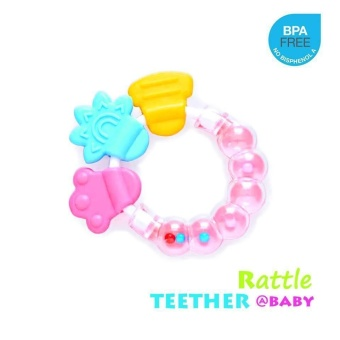 Safe & Lovely Shape Rattle and Teether Baby Toy
