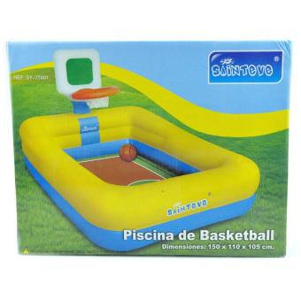 SAINTEVE Inflatable Pool with Basketball Ring