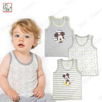 Sando & Short Set of 6 Baby Mickey by Disney Baby 9-12 MonthsOld (Grey/Yellow) - 2
