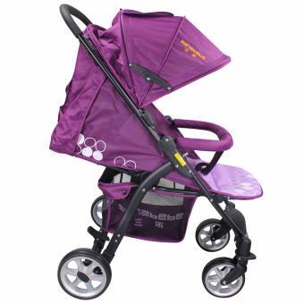 Sanebebe SL-460 Baby Umbrella Style Stroller (Violet) - 4