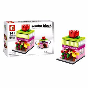 Sembo Block SD6029 Flower Shop Building Blocks Toy