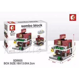 Sembo Block SD6605 Pizza Shop Building Blocks Toy (95 pcs)