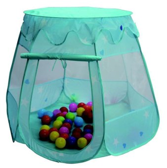Separable Roof Kids Magic Learning House Princess Tent (Blue)
