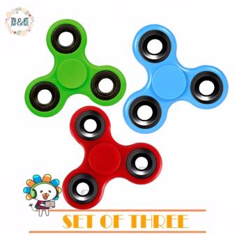 Set of 3 D&D Hand Spinner Tri-Spinner Fidget Toys For AdultsKids Anti Stress Gyroscope Spinning Top Magic Finger ToysEducational Tools Fidget Spinner