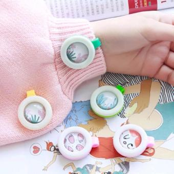 SET OF 5 Child Mosquito Repellent Bracelet Stickers Baby PregnantAnti Mosquito Pest Control Buttons Mosquito killer (MultipleDesign) - 4