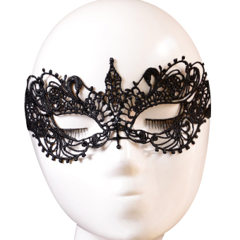 Sexy Lace Face Mask For Masquerade Party Fancy Dress Black