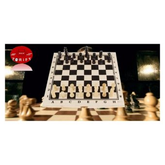 SHOP AND THRIFT Folding Portable Hand Crafted Wooden Chess BoardTraditional Games Price Philippines