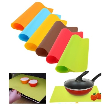 Silicone Pad Mat Bakeware Mat Silicone Oven Heat Insulation PadCookies Mats Baking Liner Non-stick Thick Kitchen Tools - intl Price Philippines