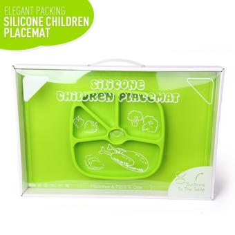 Silicone Placemat Plate Big Rectangular (GREEN) - 2