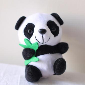 Small Cute Sitting Panda Soft Stuffed Bear Animal Plush Toy Children's Gift
