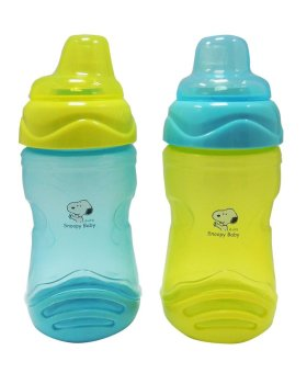 Snoopy Quench Cup With Soft Spout 2 Pcs Set