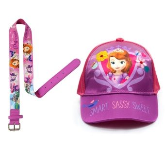 Sofia the First Satin Cap & Stretchable Belt
