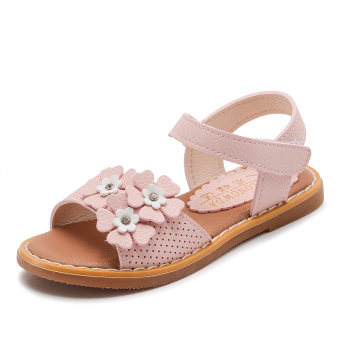Soft bottom open toed flower Baobao toddler shoes sandals