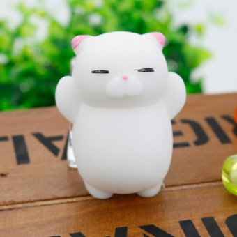 Soft Squishy Pets Cute Lovely Chubby Animal Toys Stress Relief andFun Play Toy Style:Pink cat - intl