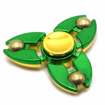 Solid Brass Fidget Spinner (Green)
