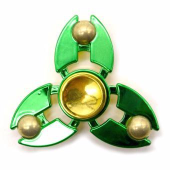 Solid Brass Fidget Spinner (Green) - 2
