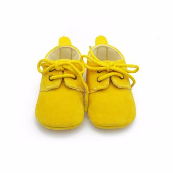 Solid Cotton Baby Shoes Lace- Up Shallow Fashion Shoes FirstWalkers Handmade High Quality Baby Shoes For 0-2 Years Old 2016 -Intl