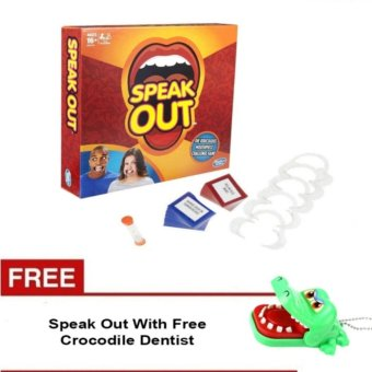 Speak Out Mouthpiece Board Game Party Challenge Friends Game WithFree Crocodile Dentist