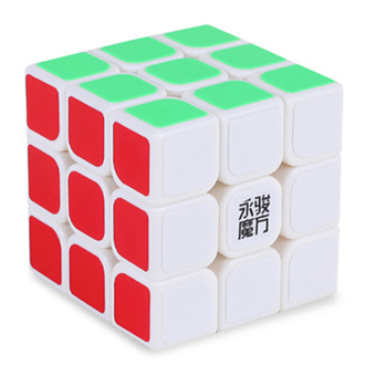 Speed Dragon Professional Rubik Cube Smooth Puzzle 3X3-White