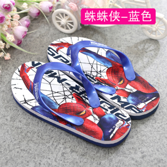 Spider Man Korean-style soft bottom summer children's flip-flops shoes flip-flops