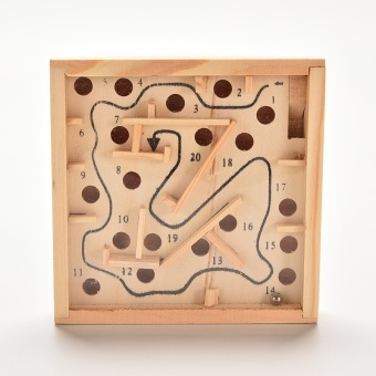 Sporter Puzzle Toys Wooden Labyrinth Balance Board Game Children Educational Toys - intl