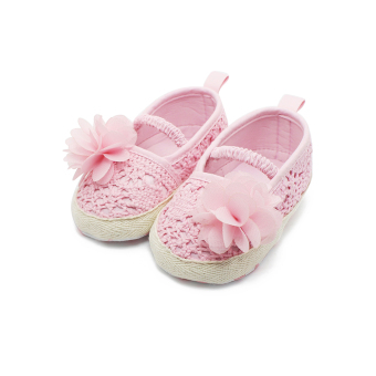 Spring/Autumn New Design Baby Girl Shoes Handmade Soft Cotton First Babies Shoes Newborn Infant Toddler First Walkers - Intl