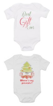Stache Onesies Jumpers and Rompers Set of 2 (White)