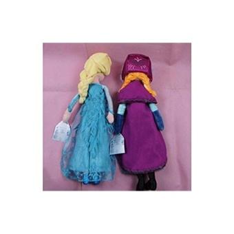 Star Mall Bees Clover Hot Elsa Anna Princess Stuffed Soft Plush Toy Doll for Girls 2pcs 40cm Elsa Anna - intl - 2
