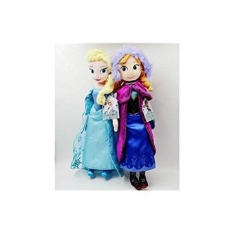 Star Mall Bees Clover Hot Elsa Anna Princess Stuffed Soft Plush Toy Doll for Girls 2pcs 40cm Elsa Anna - intl - 3