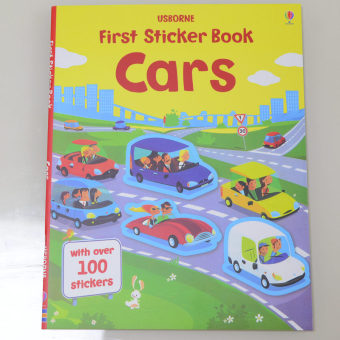 Sticker children's English car traffic adhesive paper book