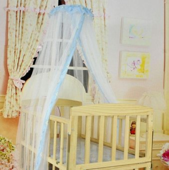Summer Baby Bed Mosquito Mesh Dome Curtain Net for Toddler Crib CotCanopy - intl - 4