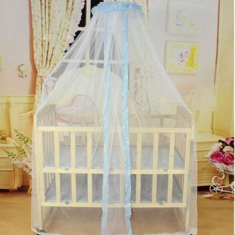 Summer Baby Bed Mosquito Mesh Dome Curtain Net for Toddler Crib CotCanopy - intl - 5