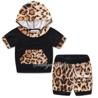 Summer Baby Girls Clothes Newborn Infant Hooded SweatshirtTops+shorts Pants 2pcs Outfits Tracksuit Kids girl dress ClothingSet - intl