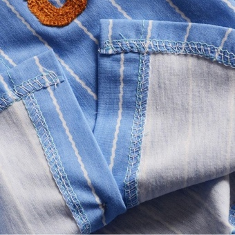 Summer Boys Short Sleeve Stripe Shirt + Jeans Short Pants Set Infant Children's Clothing - intl - 3