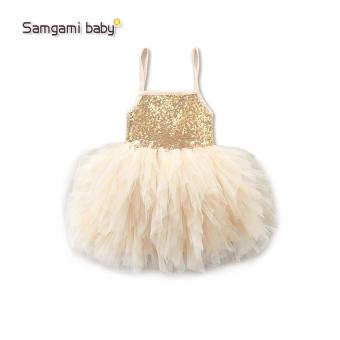 Summer Girls Wedding & Birthday Party One-Piece sleeveless Dresses Princess Children Clothes For Baby girl Clothing tutu dress - intl - 5