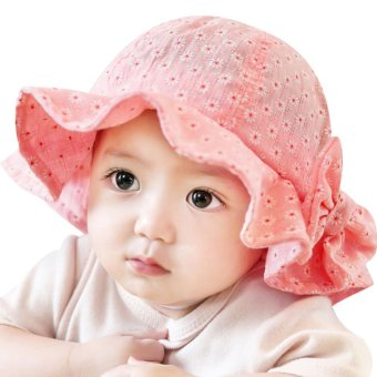 Sun Cap Summer Outdoor Baby Girl Hats Sun Beach Bucket Hat(Pink) -intl Price Philippines